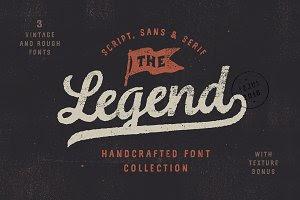 The Legend Font trio + texture bonus