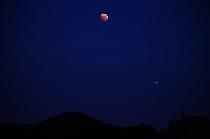 Luna y Marte desde Barcelona