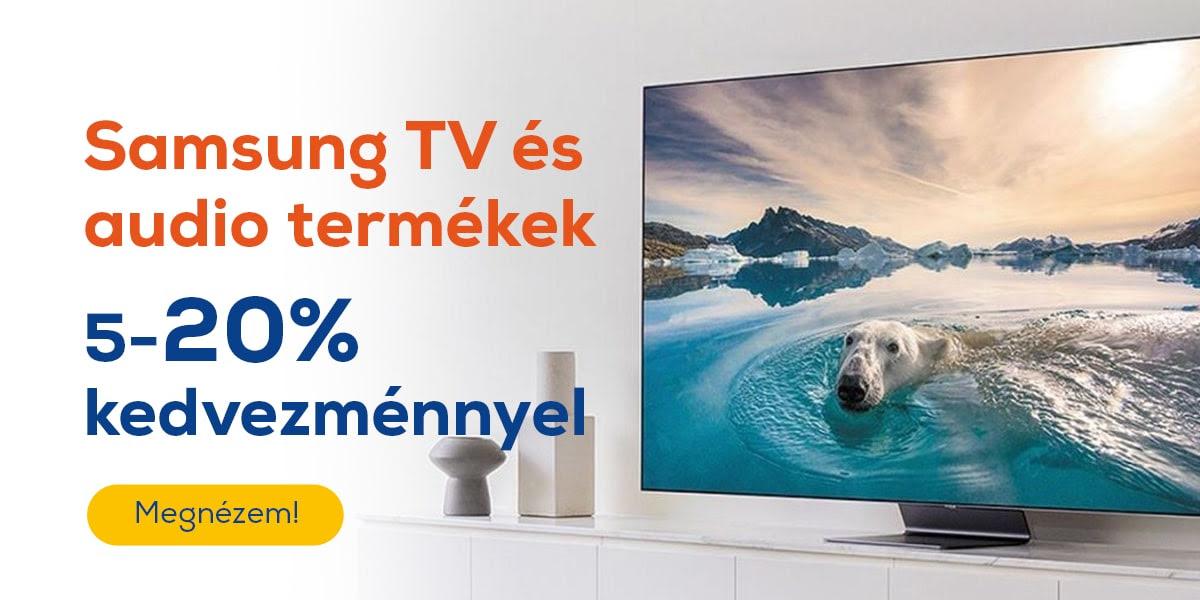 Kupon napok - Samsung TV és audio termékek 5-20% kedvezménnyel