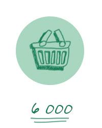 6000 références de produits
