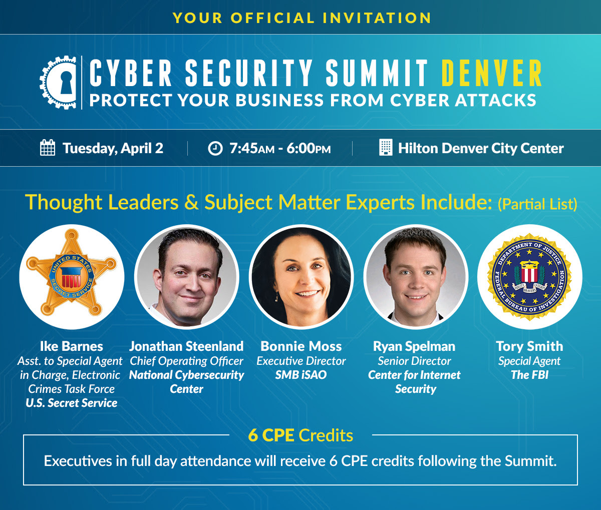 Discounted Admission to the Cyber Security Summit