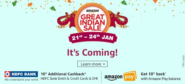 AMAZON GREAT INDIAN SALE (21- 24 JAN)