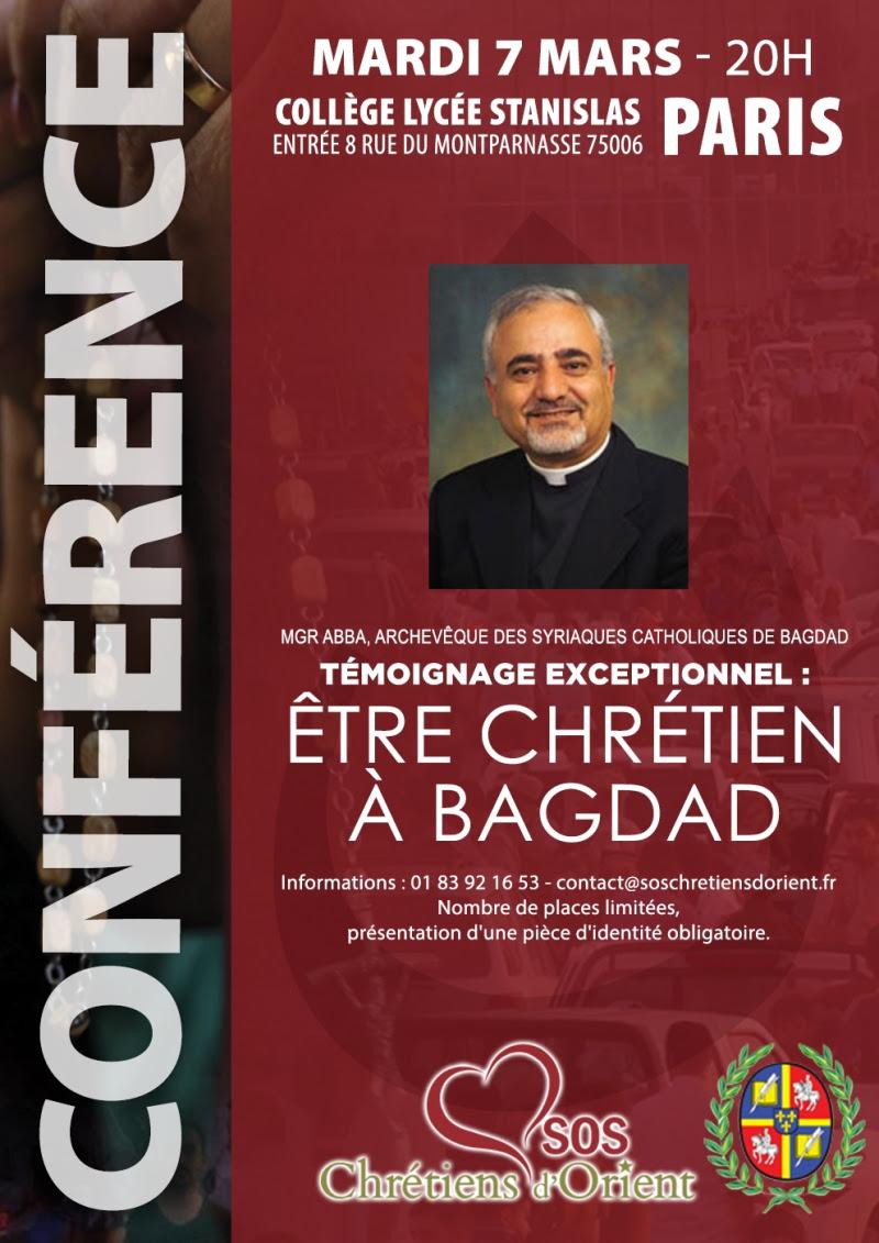 IRAK - Conférence Paris 7 mars 2017 Mgr Abba