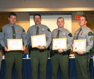 Four Michigan conservation officers honored for lifesaving efforts