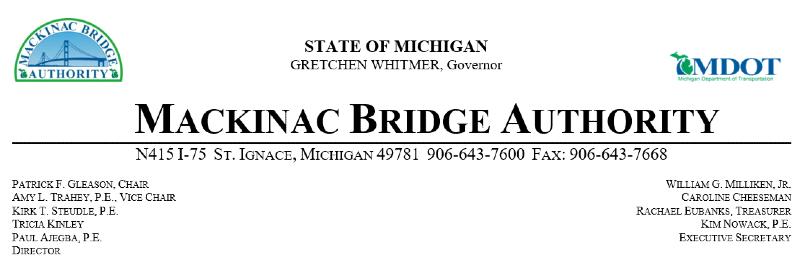 Mackinac Bridge Banner