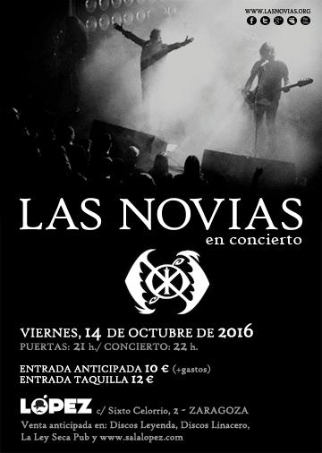 Concierto de Las Novias en Sala López de Zaragoza