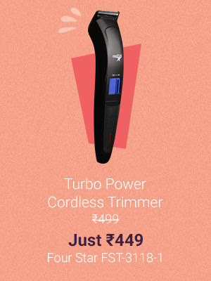 Turbo Power Cordless Trimmer at Just Rs.449