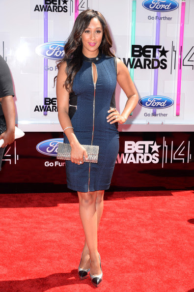 Actress Tamera Mowry-Housley attends the BET AWARDS '14 at Nokia Theatre L.A. LIVE on June 29, 2014 in Los Angeles, California.