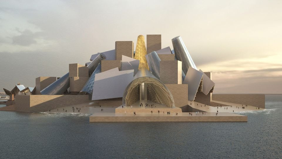 Rendering of the Frank Gehry-designed Guggenheim Abu Dhabi