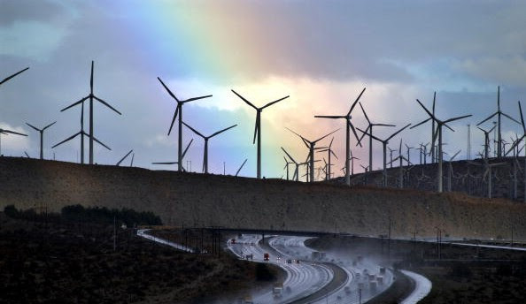 Storm Eases Over Windfarms