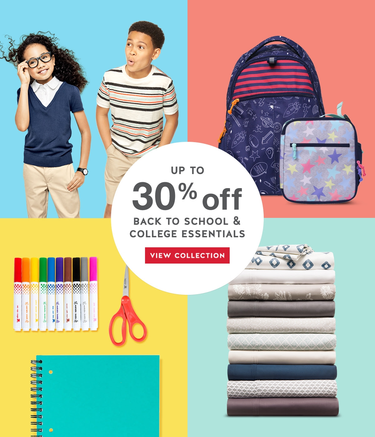 Up to 30% off back to school and college essentials. View collection.
