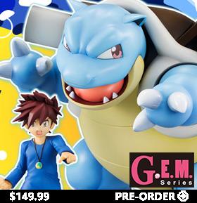Pokemon G.E.M. Figure Gary & Blastoise