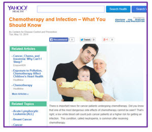 Yahoo! Health,  Chemotherapy and Infection – What you should Know