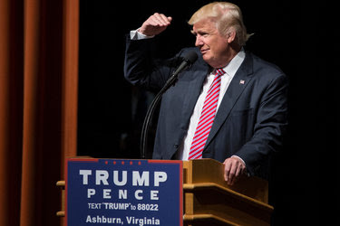 Donald J. Trump at a rally in Ashburn, Va., on Tuesday.