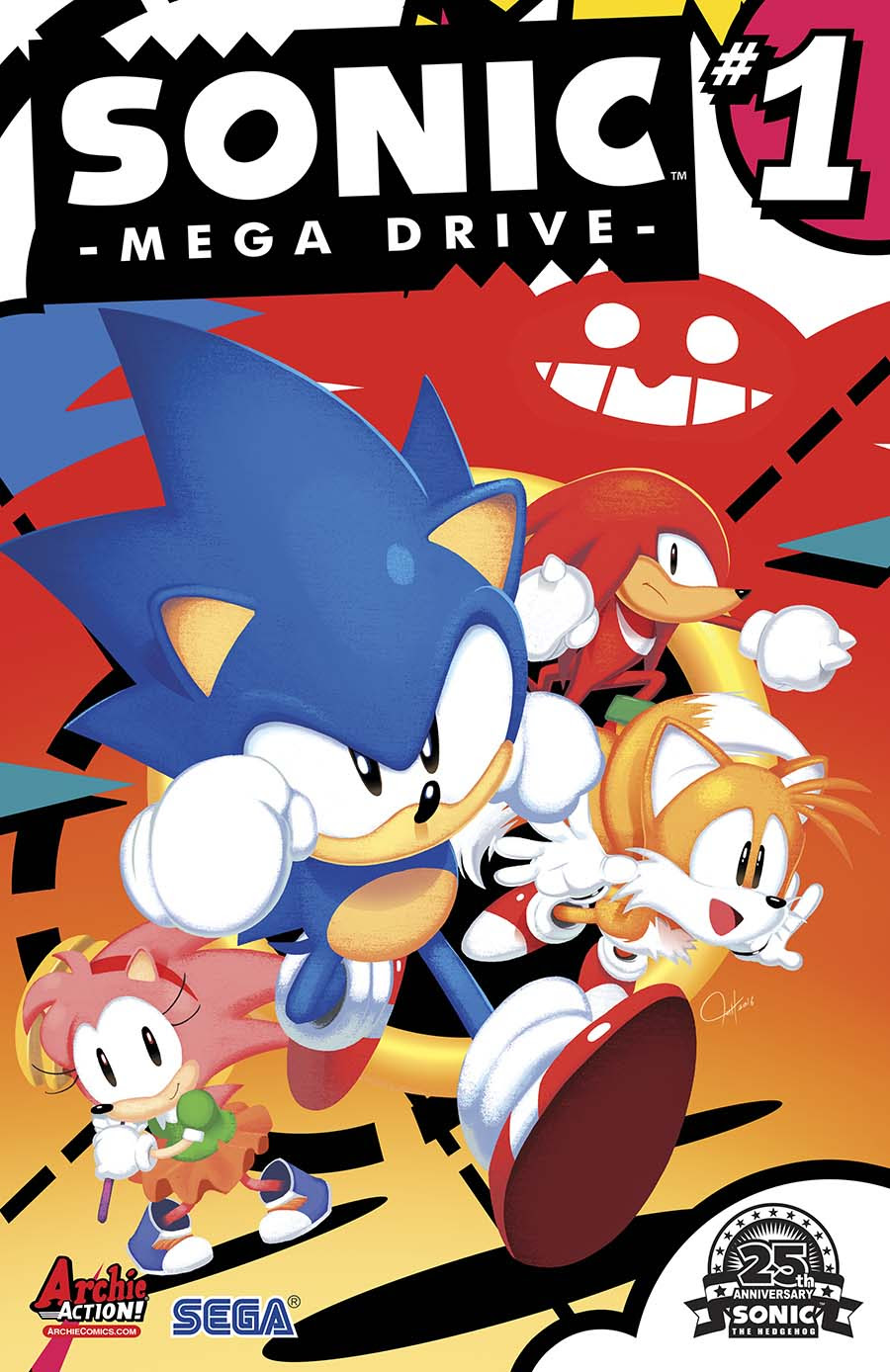 Sonic: Mega Drive Cover by Tyson Hesse