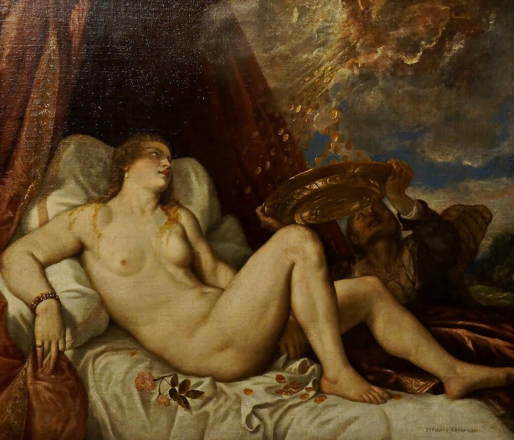 Tizian (1488-1576), 1554  Danae
