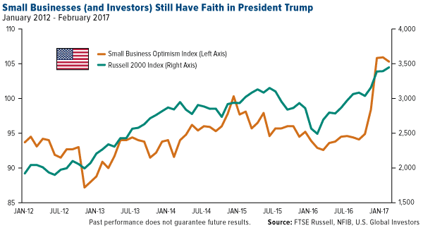 Small Businesses Investors Still Faith Trump