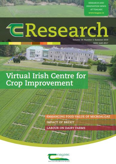 Cover of Teagasc TResearch magazine