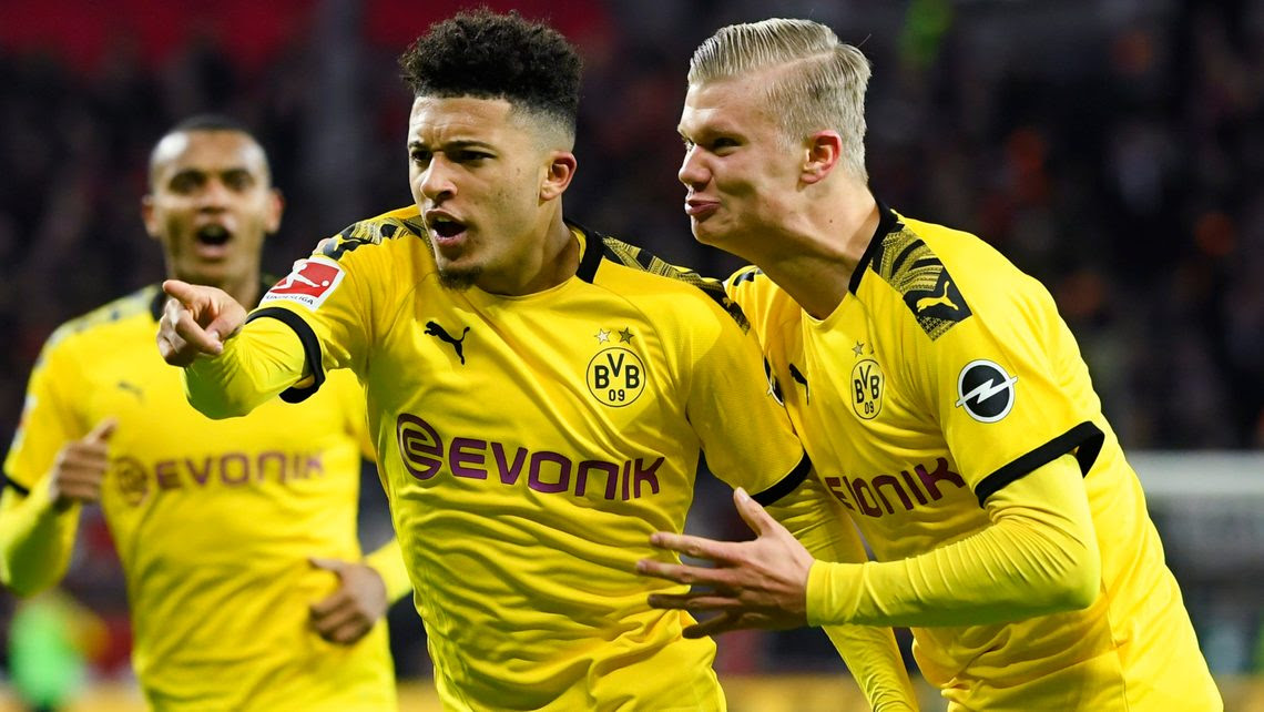Jadon Sancho (c.) and Erling Haaland (r.) have enhanced Borussia Dortmund's reputation as the destination of choice for young players