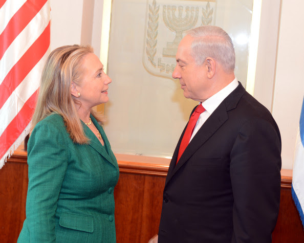 Hillary Clinton and Benjamin Netanyahu - Israeli Troops Continue To Gather On Border As UN Call For Truce