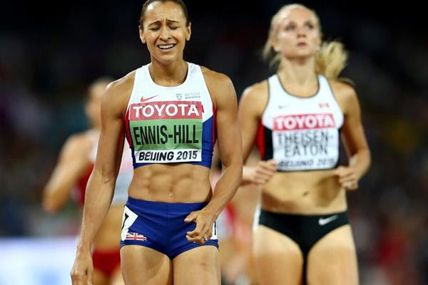 Jessica Ennis wins the heptathlon at the IAAF World Championships, Beijing 2015 (Getty Images)