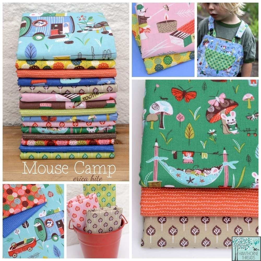 Mouse Camp Fabric Poster