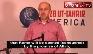 """Illinois: Muslim leader says """"Allah will grant us the Caliphate….Under its leadership, Rome will be conquered"""""""