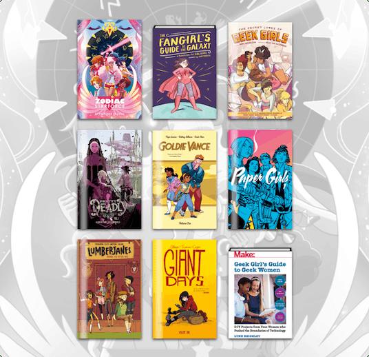 Comic and books, hurray!