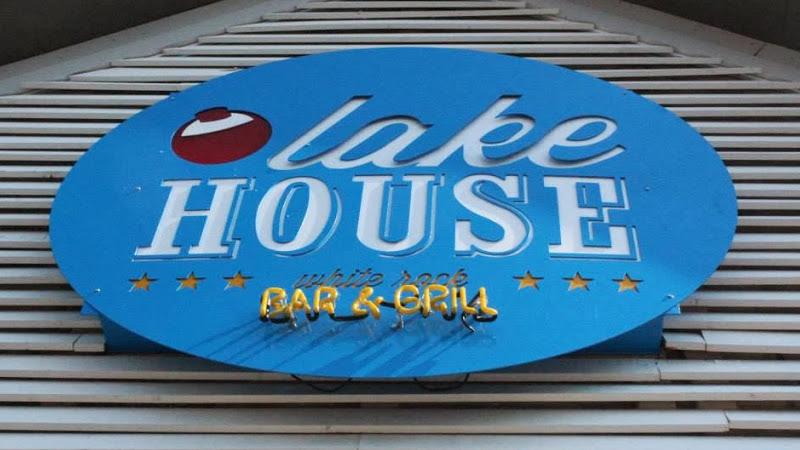Lake House White Rock Bar & Grill sign