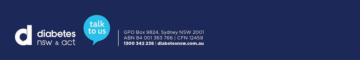 Diabetes NSW & ACT email footer