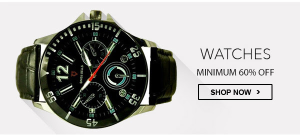 Watches at Minimum 60% OFF