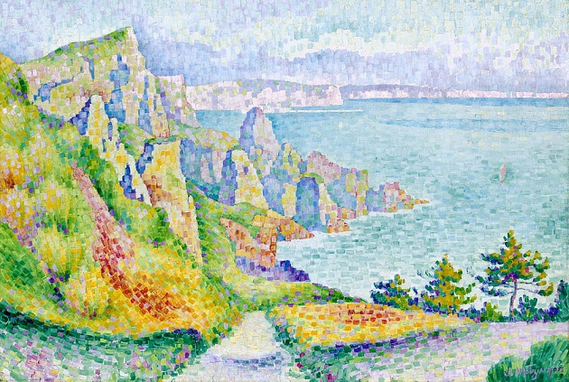 Скалы Longues-sur-Mer, 1906 (630x423, 187Kb)