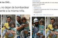 """La historia real de las fotos de una niña """"rescatada de distintos ataques en Siria"""", usada para cuestionar algunos bombardeos"""