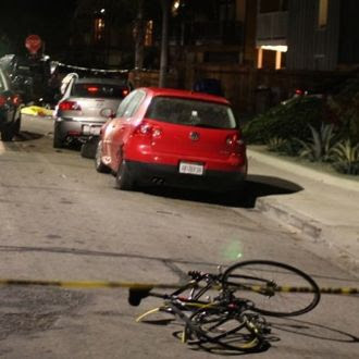 At least one bicyclist was struck by a car driven by the alleged gunman who killed six people in a Friday night rampage in Isla Vista. (Urban Hikers photo)