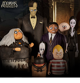 The Addams Family 5 Points Set of 4 Two-Packs