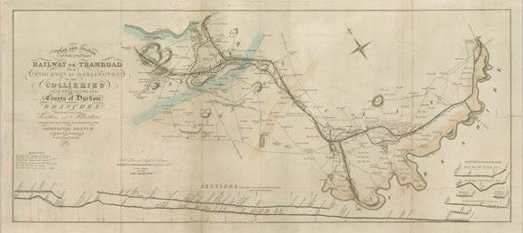 Stephenson notebook Stockton & Darlington Stephenson Parliamentary Plan 1822