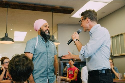 Jagmeet Singh and Andrew Cash