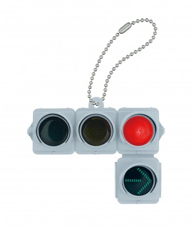 車両用信号灯器(矢印付/赤信号点灯)