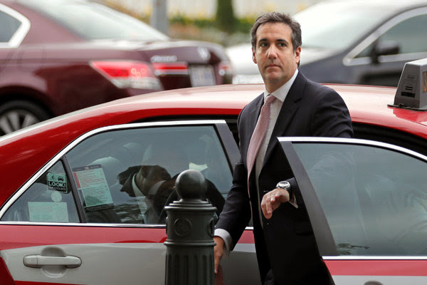 Michael D. Cohen, President Trump's personal lawyer, outside the Capitol in September.