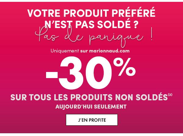 Exclu WEB : -30% sur tous les produits non soldés
