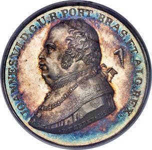 Brazil: João VI silver Proclamation Medal 1820-Dated MS64 NGC