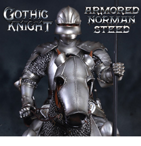 SERIES OF EMPIRES 1/6 SCALE GOTHIC KNIGHT & STEED