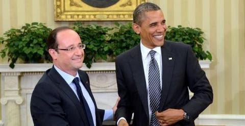 El presidente francés, François Hollande, junto con el presidente de Estados Unidos, Barack Obama./ REUTERS