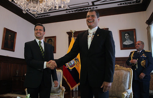 The presidents of Mexico and Ecuador