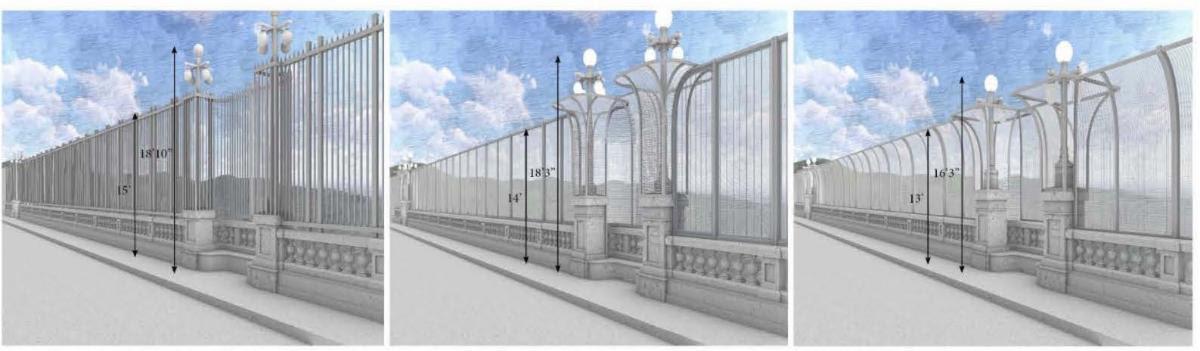 Colorado Street Bridge safety fencing options