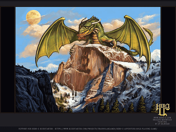 Dragon Over Half-Dome - Free Screensaver Art