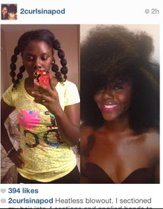 banding, stretch and style natural hair