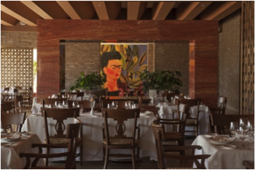 Mexican cuisine Restaurante Frida at Grand Velas Riviera Maya.