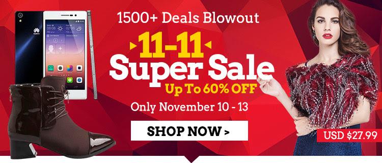 11-11 super sale up to 60% off 1500 + deals blowout at Lightinthebox.com
