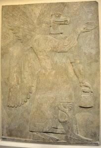 Apkallu wall relief